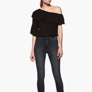 Paige One Shoulder Asymmetrical Pax Top Size S